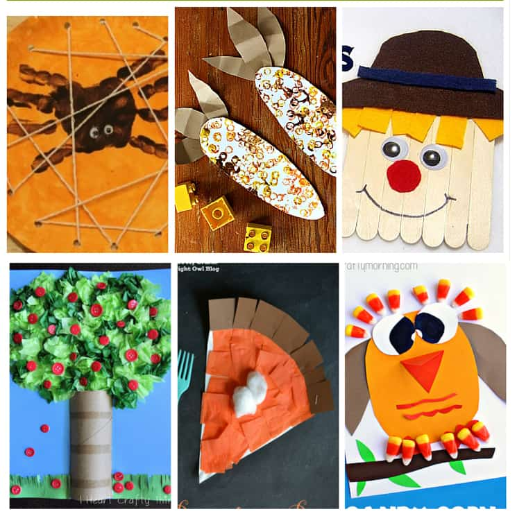 20 easy and cheap fall kids crafts over the big moon for Cheap kids craft ideas