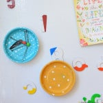 DIY Painted Magnetic Bowl tutorial! Such a fun craft and comes in so handy around the house!