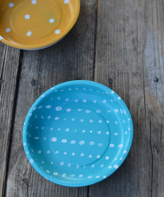 DIY painted magnetic bowl