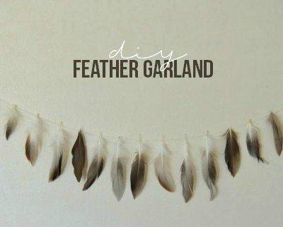 DIY Feather Garland