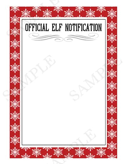 Official Elf Notification Letter Printable from www.overthebigmoon.com!
