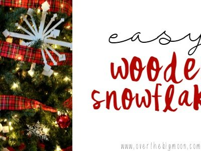 Easy Wooden Snowflakes