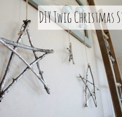 DIY Twig Christmas Stars