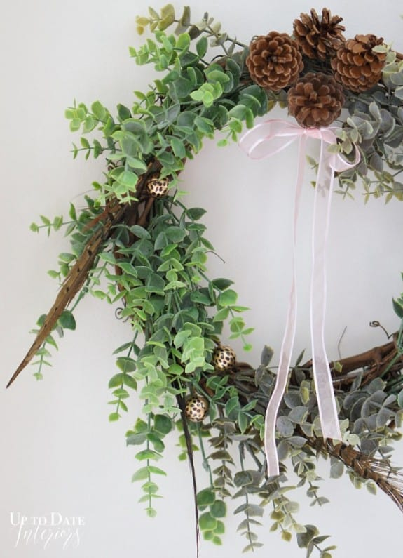Over The Big Moon Eucalyptus and Feather Winter WreathOver The