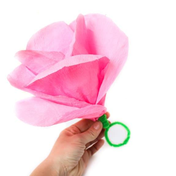 Crepe Paper Heart Napkin Ring