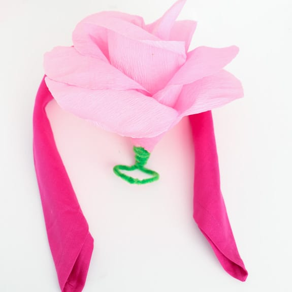 Crepe Paper Heart Napkin Ring-9