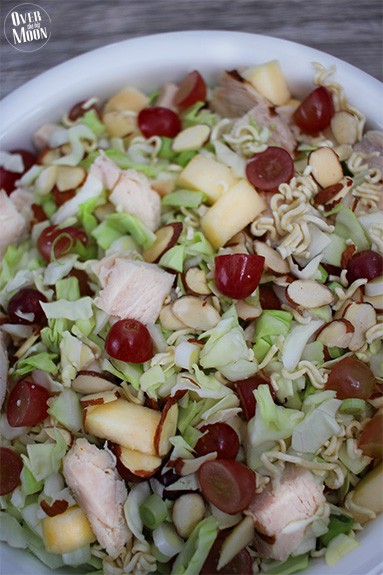 Chicken Cabbage Ramen Salad - this family favorite salad is so easy and is always a hit at get togethers! From www.overthebigmoon.com!