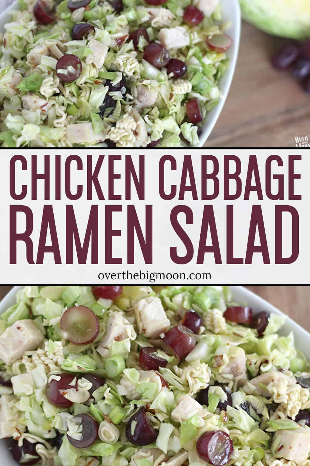 This Chicken Cabbage Ramen Salad is the perfect salad for all occasions! From overthebigmoon.com!