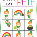 Don't Eat PETE - St. Patrick's Day Edition! Such a fun activity to celebrate St. Pat's Day from www.overthebigmoon.com!