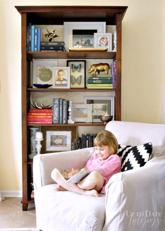 easy bookcase decorating