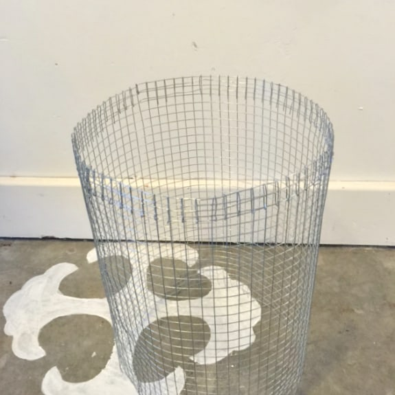 DIY wire basket with a wood bottom. It's easier than you think!