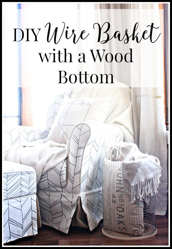 DIY Wire Basket with a Wood Bottom - Over The Big Moon
