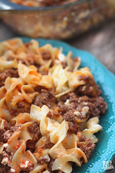 Sour Cream Noodle Bake - this awesome casserole is a perfect make ahead dinner that the whole family will love! From www.overthebigmoon.com!