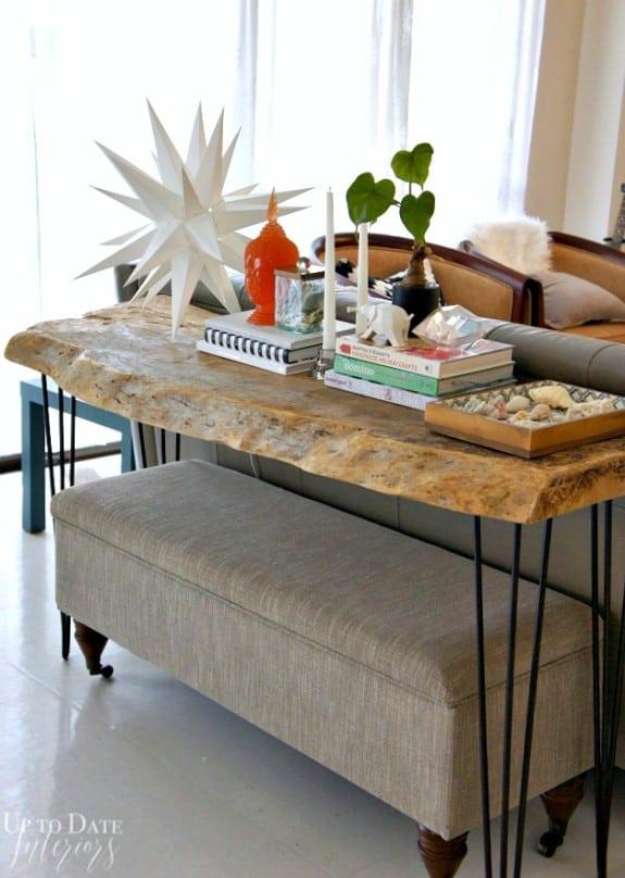 sofa table decor