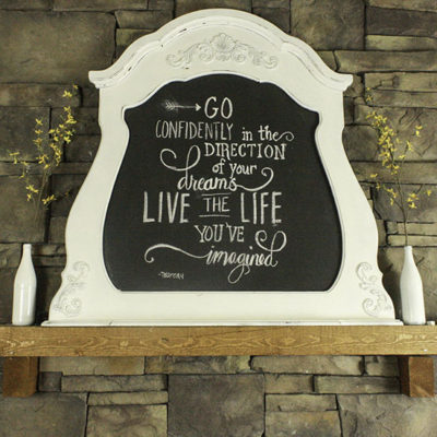 Turn a Thrift Store Mirror Into a Chalkboard