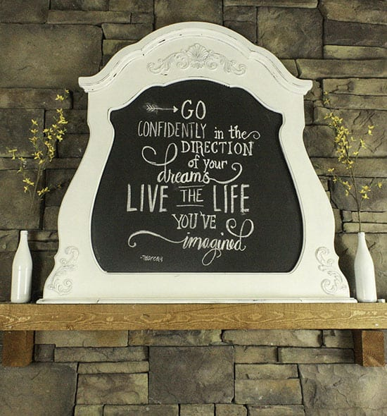 Turn a thrift store mirror into a chalkboard. It is so easy!