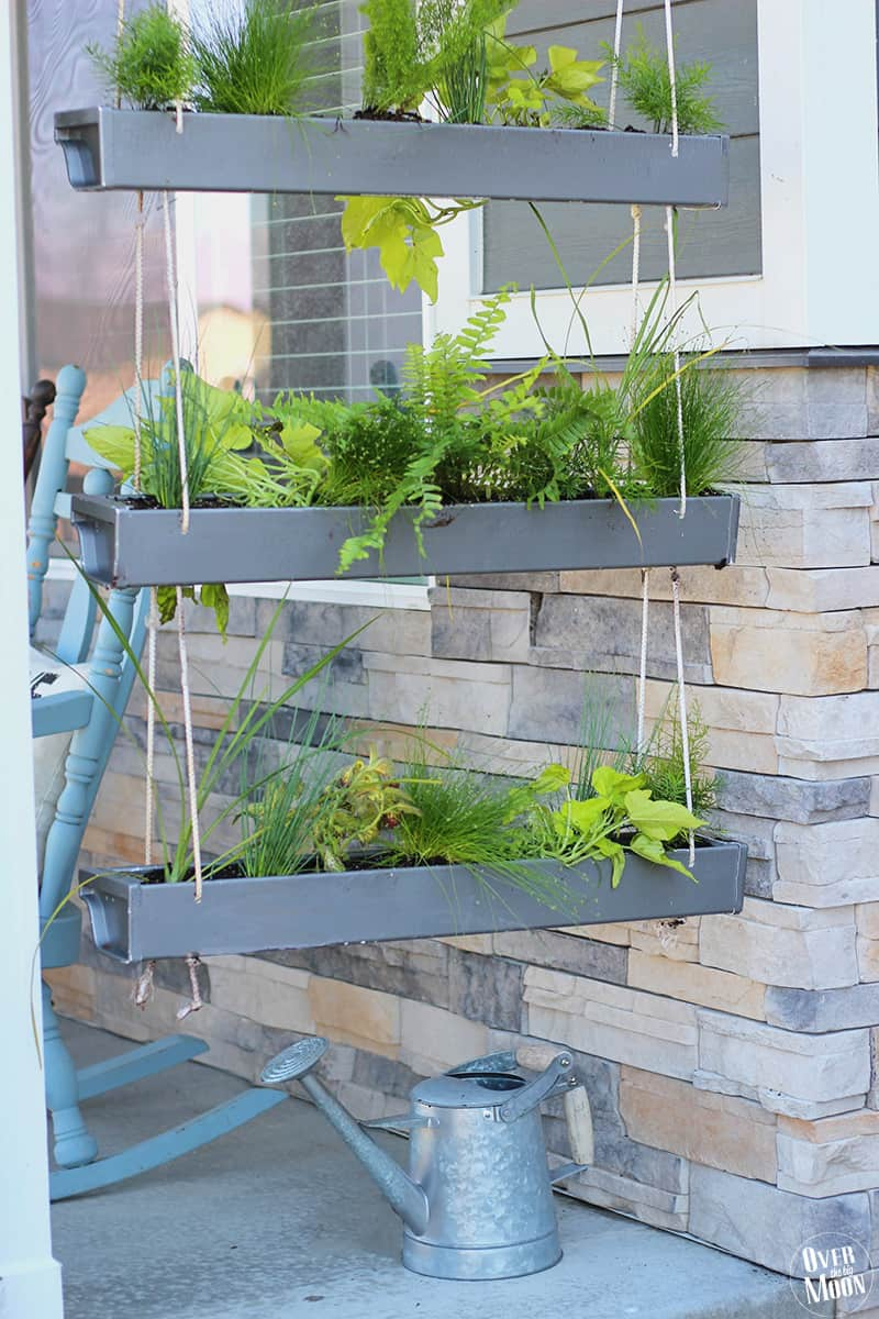 Diy Porch Gutter Planter Over The Big Moon