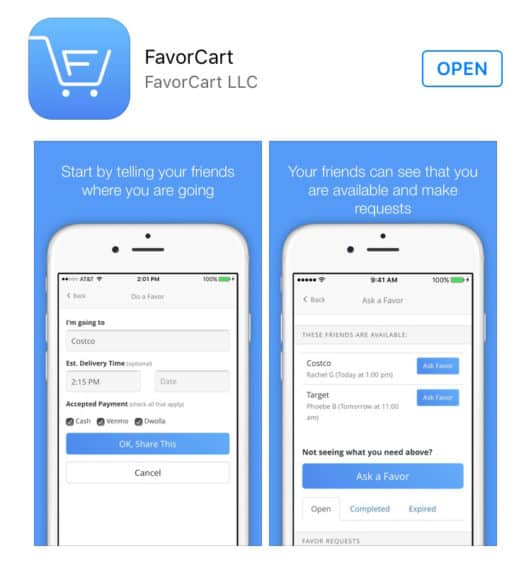 You gotta check out this awesome new app - FavorCart! My friends and I are all totally using it to help each other grab stuff from the grocery store when we only need a few things! It's seriously so genius! Check it out! | www.overthebigmoon.com