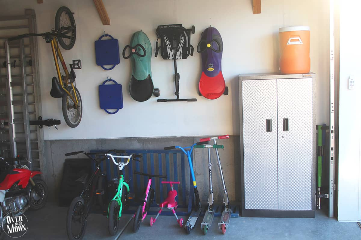 We Also Had Some Tall Toys And Baseball Bats They Fit Perfectly In Between The Garage Wall Storage Cabinet