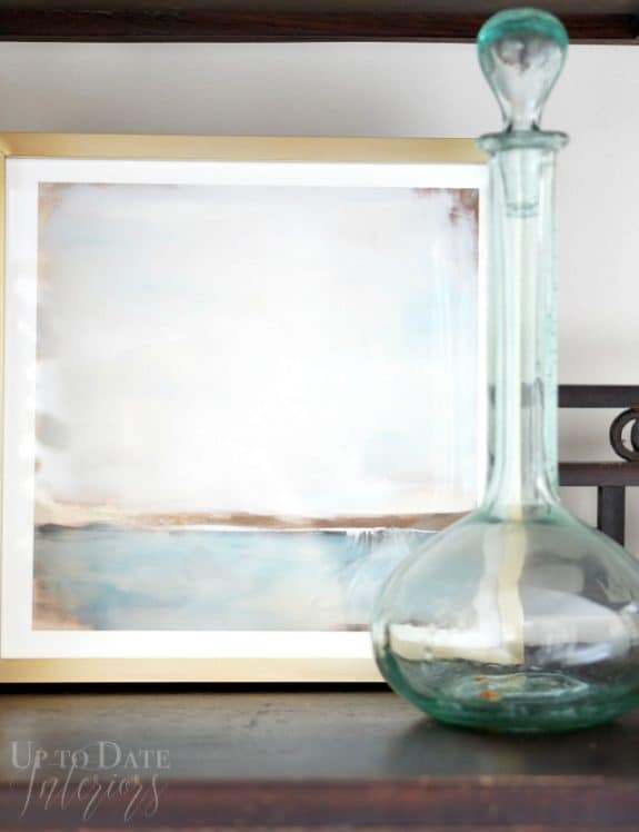 seaside picture and glass