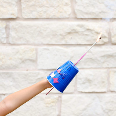 Decorated Sparkler Guard Kids Craft