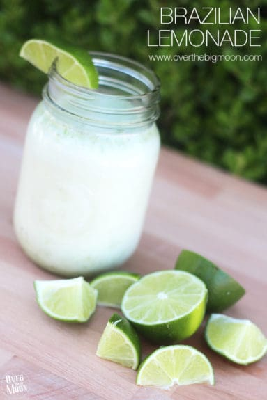 This Brazilian Lemonade is the perfect fresh drink during the warm months! From www.overthebigmoon.com!