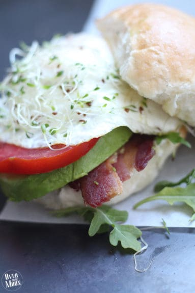Midwestern Farm Burger - the perfect change from a traditional burger! From www.overthebigmoon.com!