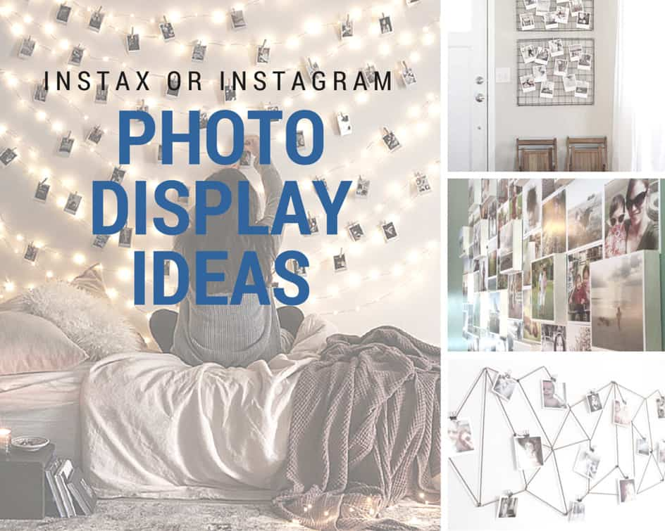 10 awesome ways to display your instax or instagram photos. Black Bedroom Furniture Sets. Home Design Ideas