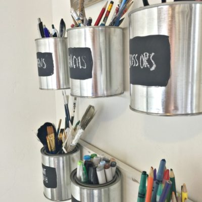 DIY Paint Can Organizer