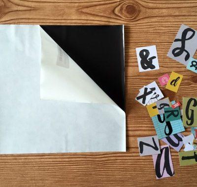 DIY Letter Magnets