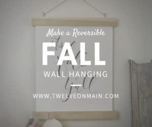 Make a reversible Fall wall hanging.