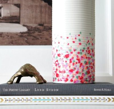 DIY Confetti Vase - made from the dollar store!