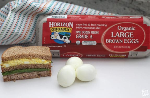 Tuna and Egg Salad Sandwich - such a yummy and filling lunch! | www.overthebigmoon.com