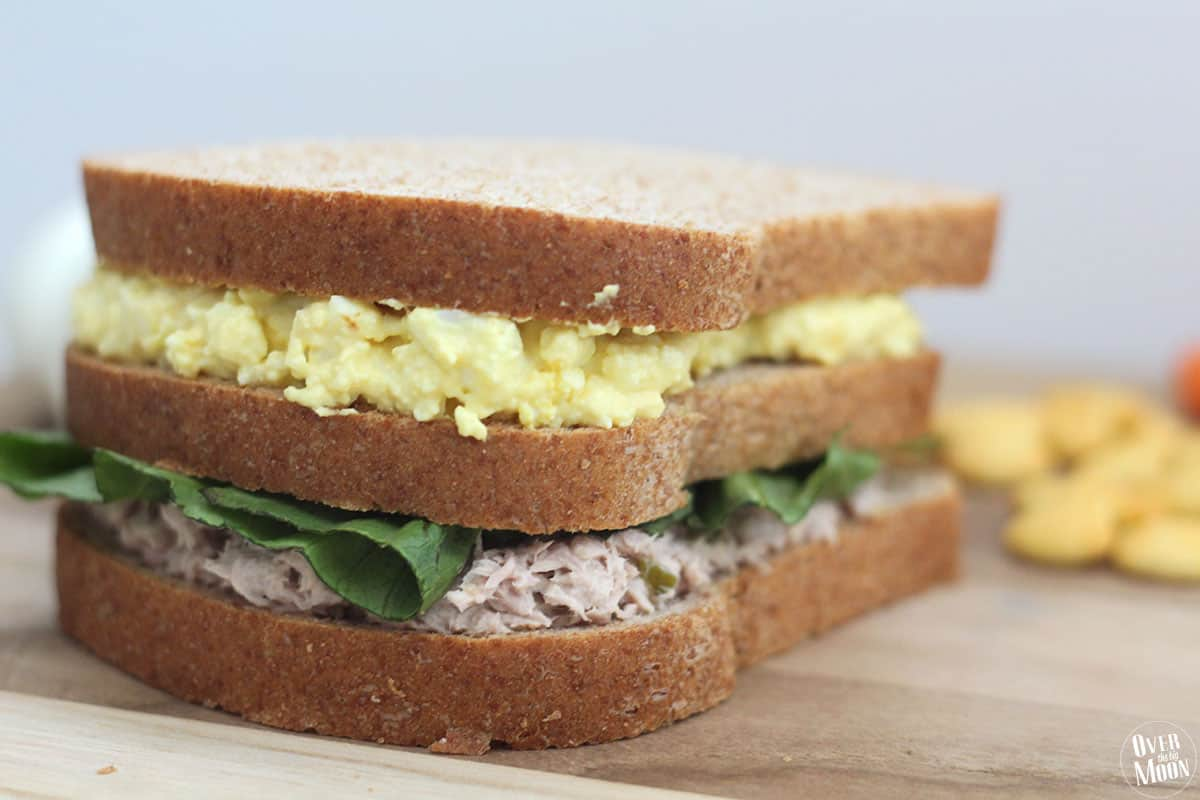 Tuna and egg salad sandwich over the big moon for Tuna and egg sandwich