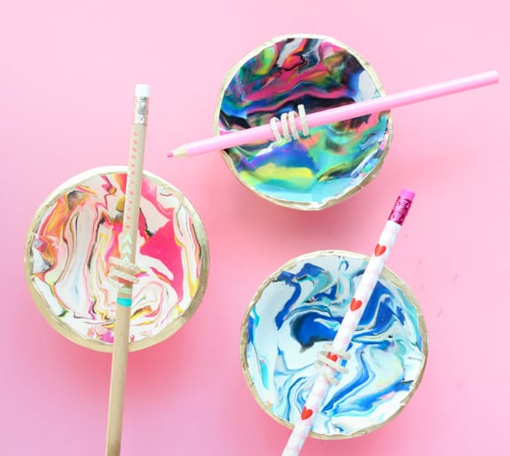 DIY Marble Bowl Candles - Over The Big Moon
