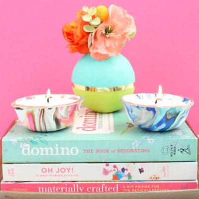 DIY Marble Bowl Candles
