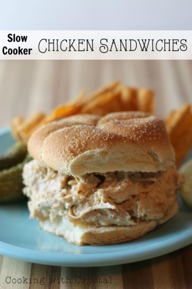 slow cooker chicken sandwiches