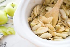 Apples cooking in Crockpot! From overthebigmoon.com!