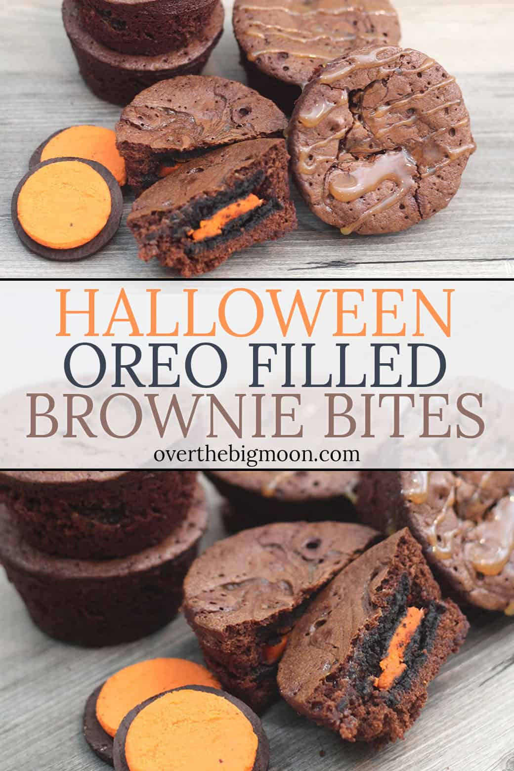 These funOreo Filled Caramel Brownie Bites are the perfect treat that everyone will love! Use orange filled Oreo's to make them the perfect Halloween Treat!