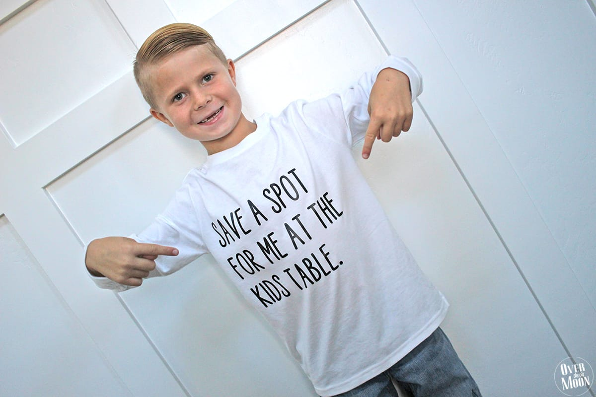 ce1d62cd6 DIY Kids Thanksgiving T-Shirts - these are so fun and can be put together