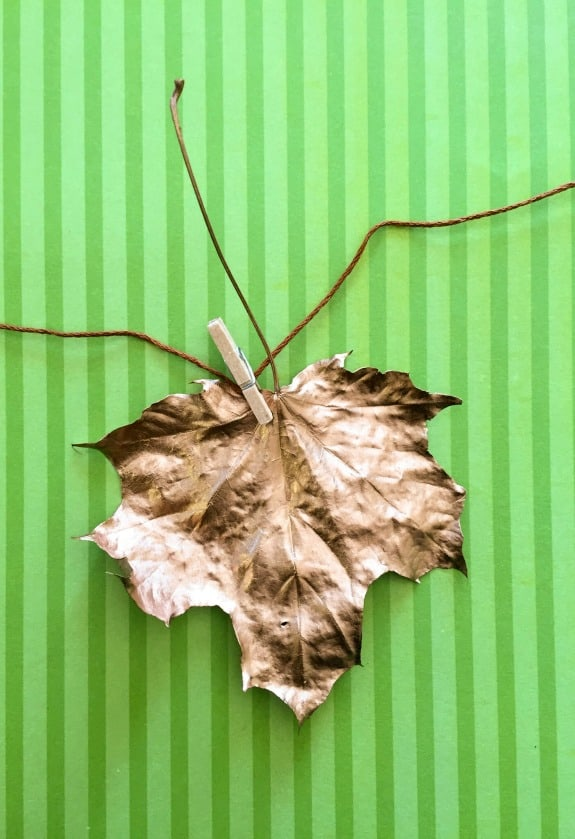 DIY Copper Leaf Garland