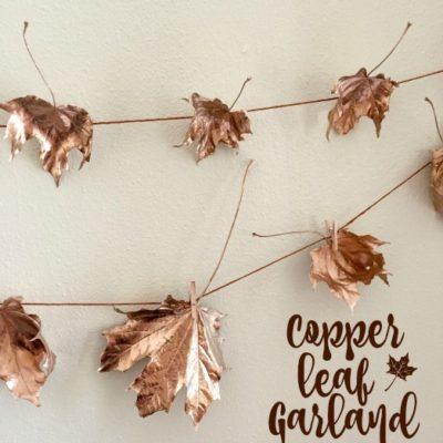 DIY Copper Leaf Garland
