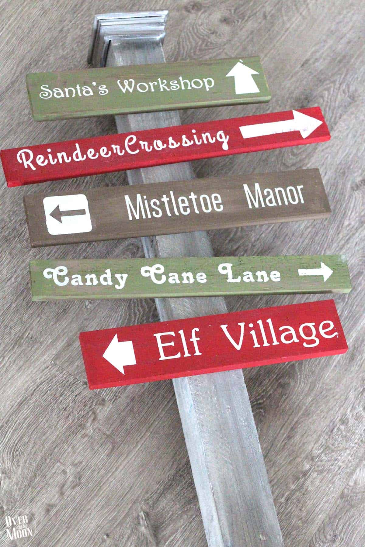 Holidays: DIY North Pole Sign- how to make this cute sign, step 9.
