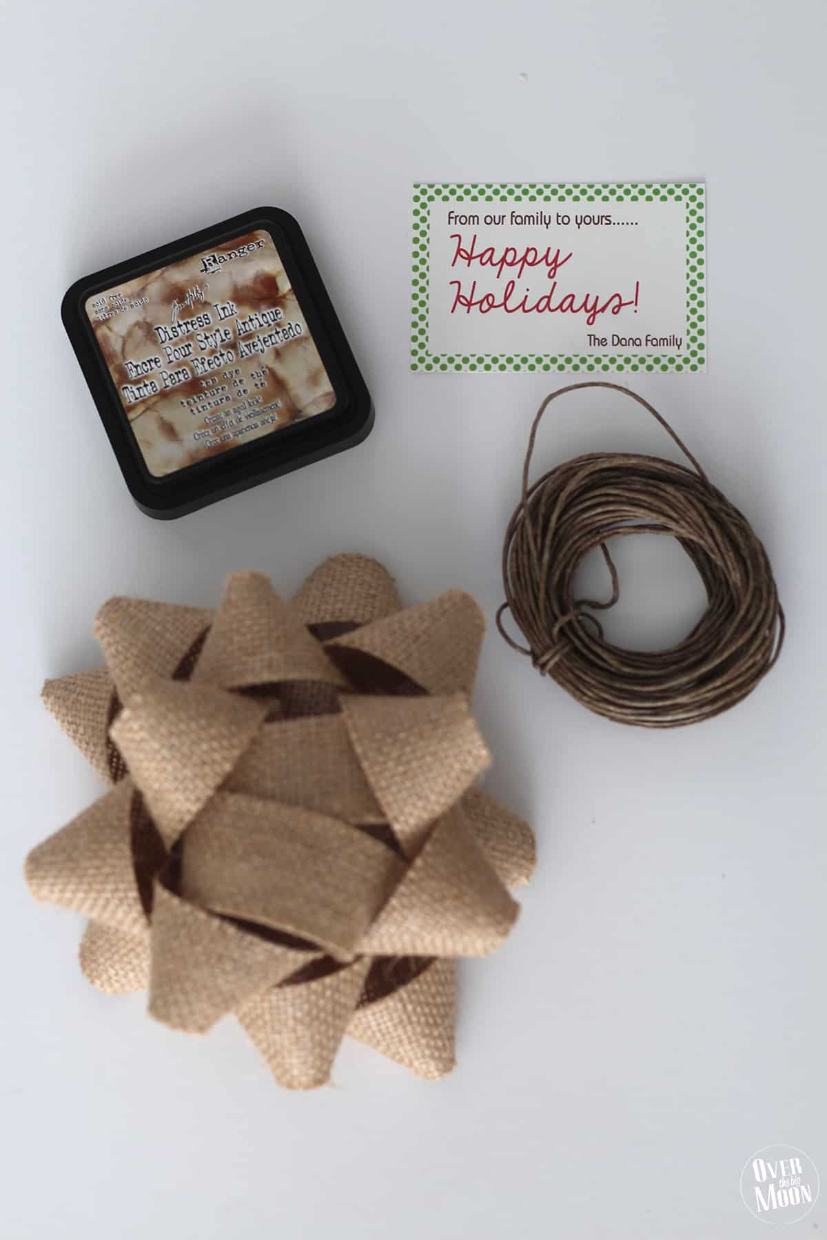 Love this idea for close friends or neighbors - Practical Christmas Neighbor Gift Idea using disposable tableware! From www.overthebigmoon.com!