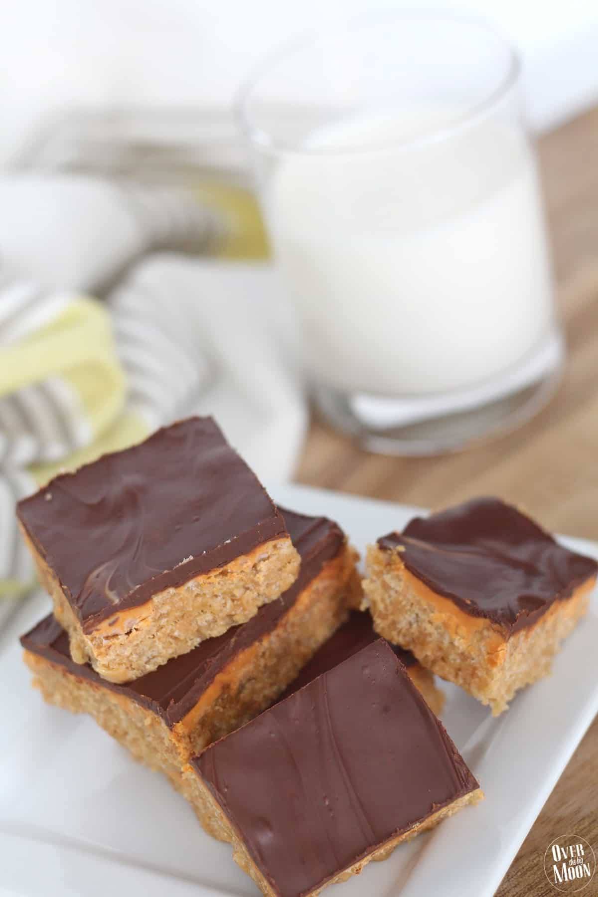 These O'Henry Bars are a classic dessert! They are also known as Scotcharoos! From www.overthebigmoon.com!