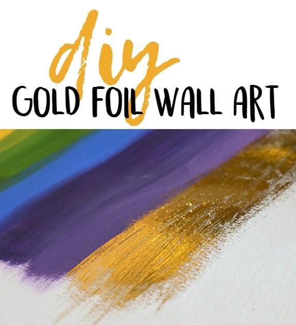 DIY Gold Foil Wall Art - Over The Big Moon