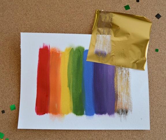 DIY Gold Foil Wall Art