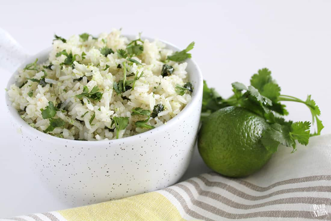 Over The Big Moon Cilantro Lime Coconut Rice - Over The Big Moon