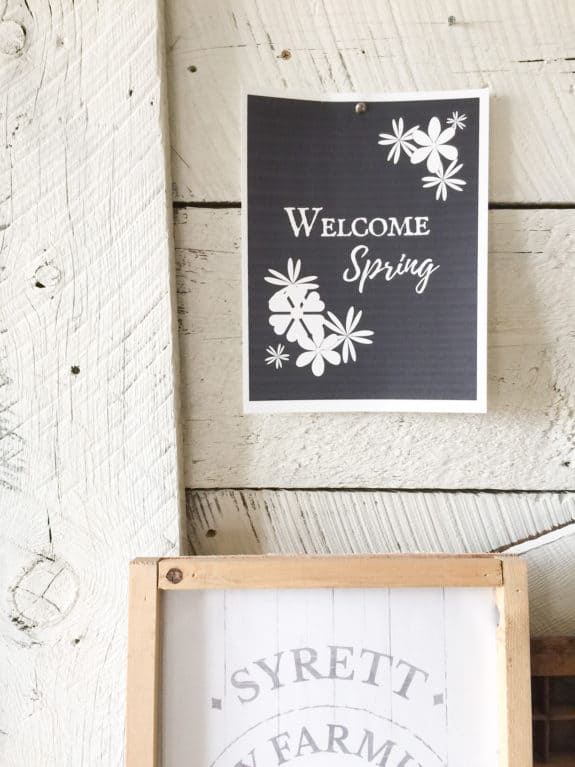 Check out this FREE spring printable!