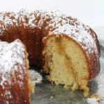 Old Fashioned Butter Cake - this cake is straight from Grandma's cookbook! No need for frosting of any sort! Each bite melts in your mouth! From www.overthebigmoon.com!